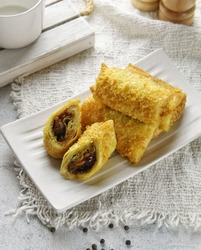Risoles chicken black papper, indonesian tradisional street food