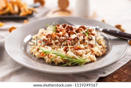 risotto with chanterelle. dish...