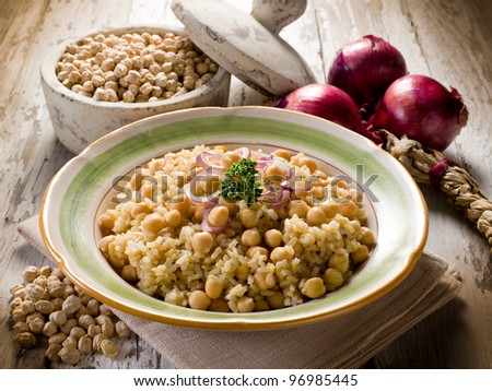 risotto with  chickpeas and onions