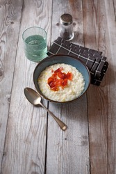 Risotto with robiola leeks and speck (ph. Marianna Franchi)
