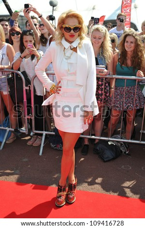 Rita Ora arriving for auditions for X Factor at the O2 centre, London. 28/05/2012 Picture by: Steve Vas / Featureflash