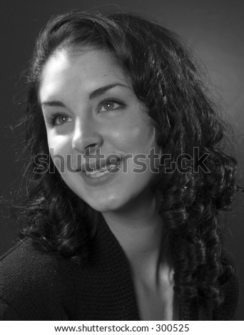 Ritratto nero e bianco classico. - stock photo