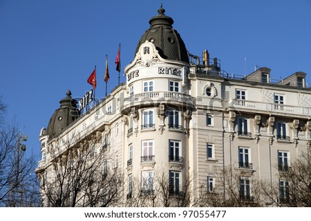 Ritz hotel, Madrid city, Spain