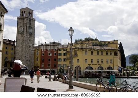 Riva Del Garda Lake Garda Riva Del Garda Town in The