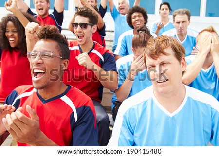 Rival Spectators Watching Sports Event