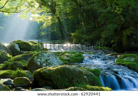 River and shaft beam of light #62920441