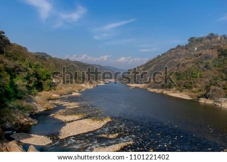 River Between Haripur & Guler in Himachal Pradesh. India Imagine de stoc ©