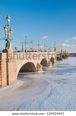 River bridge at Saint Peterburg, Russia
