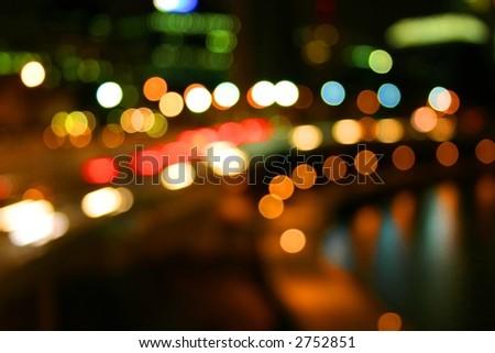 river city lights on freeway #2752851