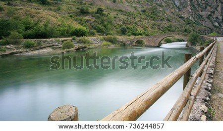 river crossing the mountains in Spain #736244857