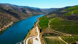 River Douro in Vila Nova de Foz Coa - Portugal