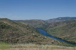 River Douro next to the mouth of the river Coa. Vila Nova de Foz Côa Municipality. Douro Region. Portugal.