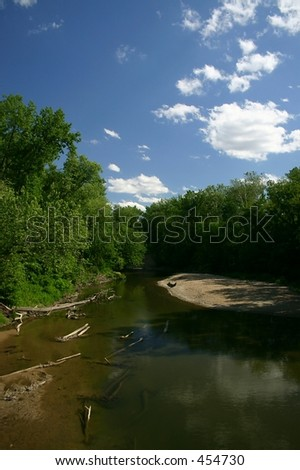River in Central Illinois