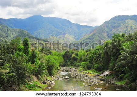 River in Cordillera mountains, Philippines