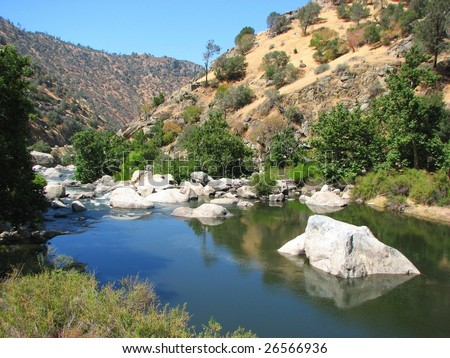 River in Sequoia National Park, California