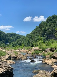 River in the mountains. Caney Fork River. Tennessee.