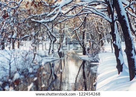 River in Winter park