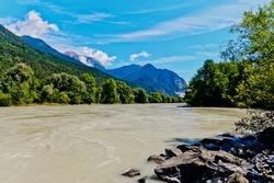 river inn in the austrian county tirol
