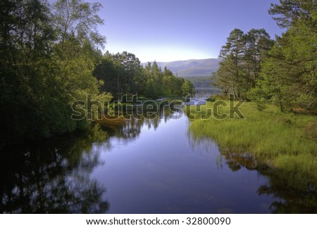 River Luineag near Aviemore Scotland