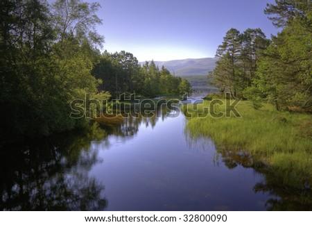 River Luineag near Aviemore Scotland
