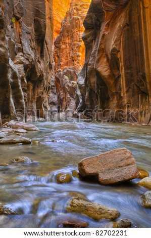 River Narrows Trail in Zion National Park