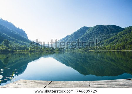 River Neretva In Bosnia, Mindfulness Landscape, Still Calming Nature Background