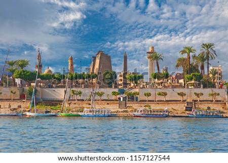River Nile Luxor Egypt Stock photo ©