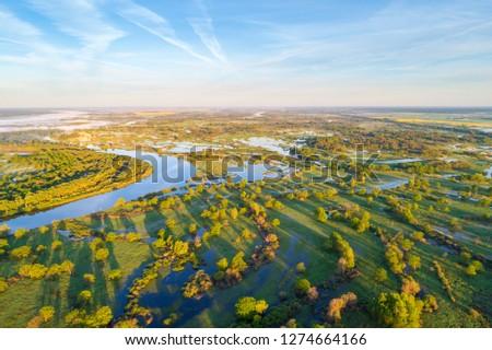 River Prypiac' (Belarus) in the spring