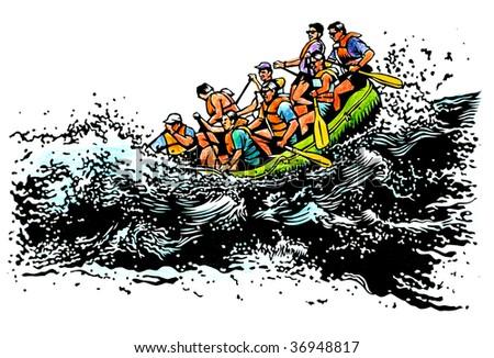river raft illustration