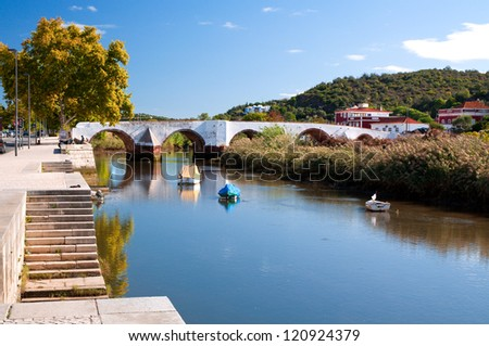 River running through Silves, a little town in the district of Faro in Portugal