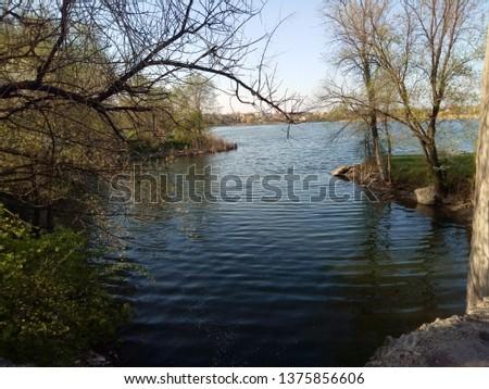 River serene harbor #1375856606