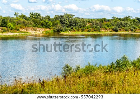 River shore landscape #557042293