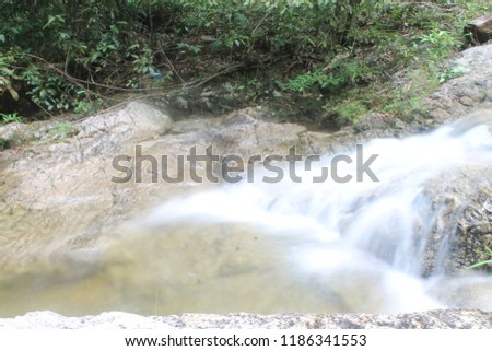 river stream and waterfall #1186341553