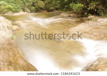 river stream and waterfall