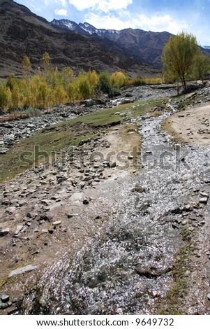 River / Stream, Mountain Climb- Stok Kangri (6,150m / 20,080ft), India