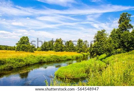 River summer nature landscape #564548947