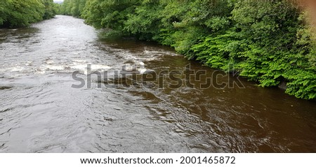River Tawe, Swansea UK.  The River is a spate River so rises and falls quickly after heavy rain. Stok fotoğraf ©