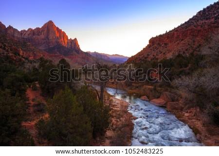 River Through Zion, Zion National Park, Utah #1052483225