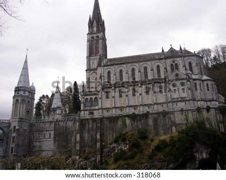 River View of Lourdes Cathedral