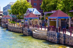 River Walk In Downtown Reno, Nevada