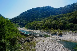 Riverbed of the Maggia river, Ticino, Switzerland