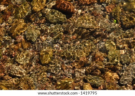 riverbed, with sunny pattern made by water (2)
