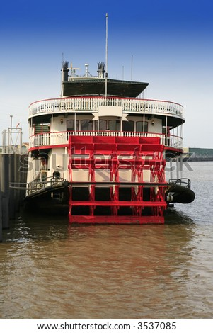 Riverboat on the Mississippi river in New Orleans