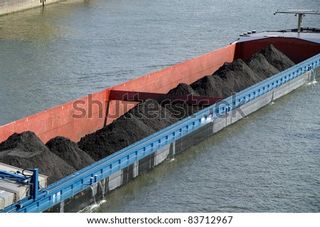 Riverboat with coal