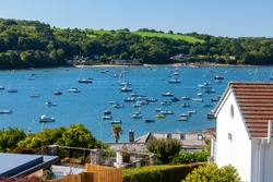 Riverside at Helford Passage a small village located near the mouth of the River Helford Cornwall England UK Europe