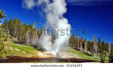 Riverside Geyser, Old Faithful Basin, Yellowstone National Park