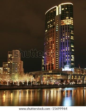 Riverside Hotel - stock photo