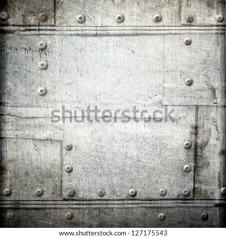 riveted   metal plating ; abstract grunge background