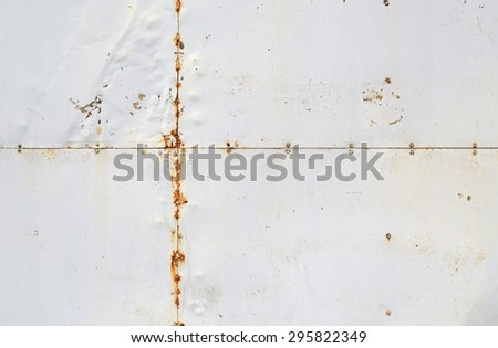 riveted old weathered rusty white metal background