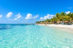 Riviera Maya - paradise beaches at Cancun, Quintana Roo, Mexico - Caribbean coast - tropical destination for vacation